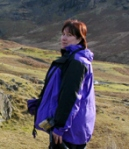 In her element, filming on the fells